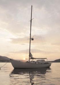 Sally II at anchor