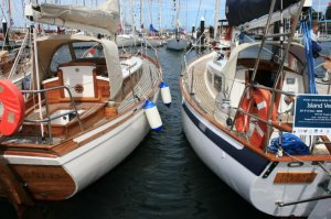 V218 Island Vertue at the Hobart Wooden Boats Festival